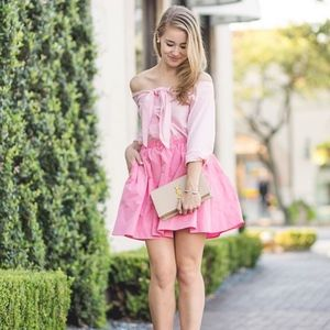 NWT H&M pink party skater circle skirt